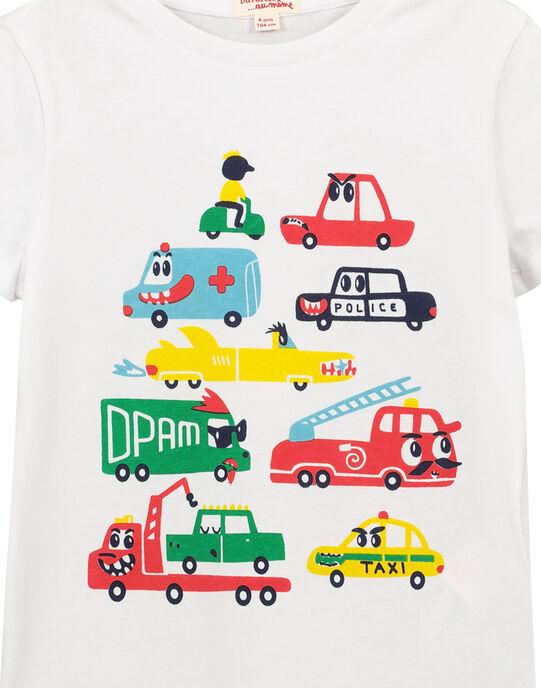 Tee-shirt blanc fantaisie garçon FOCOTI2 / 19S90282TMC000