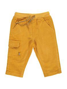 Pantalon en velours jaune bébé garçon DUJOPAN5 / 18WG1035PAN104