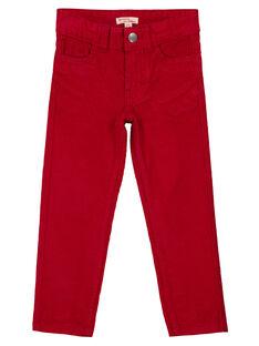 Pantalon En velours Rouge Regular GOJOPAVEL4 / 19W90233D2BF508