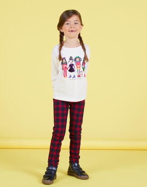 Pantalon milano imprimé tartan enfant fille MAMIXPANT / 21W901J1PANC205