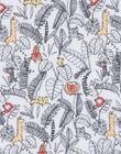 Veste réversible rembourrée avec face unie gris chiné et face imprimé jungle LOU1VEST / 21SF05H1VES000