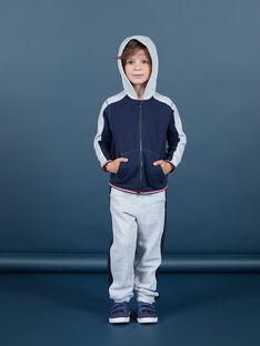 Jogging gris et bleu marine enfant garçon MOJOJOB3 / 21W90211JGBJ922