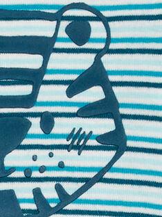 Body manches longues layette garçon rayé motif tigre KEGABODTIG / 20WH1498BDL202