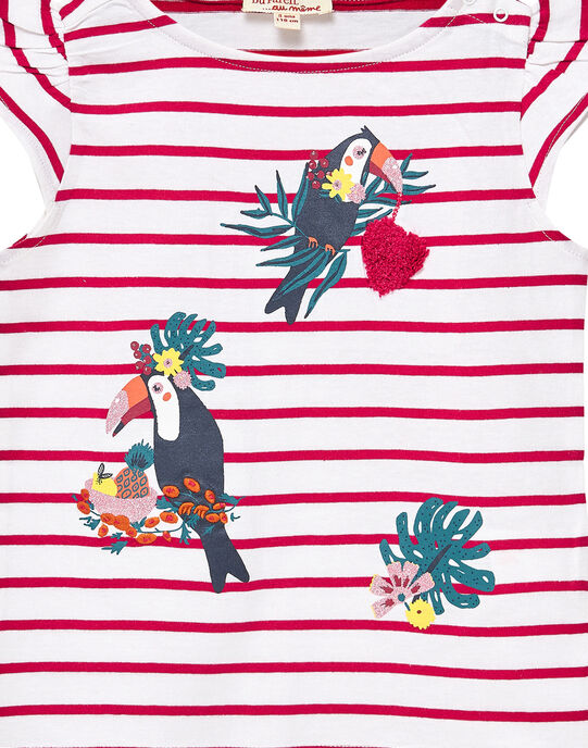 Tee Shirt Manches Courtes Ecru JACLOTIEX / 20S90112TMC001