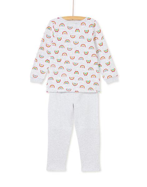 Pyjama enfant fille imprimé arc en ciel KEFAPYJSKY / 20WH11B4PYJ943