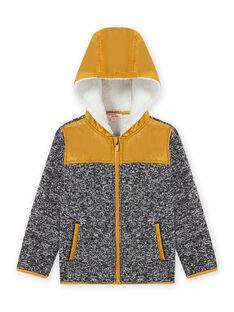Veste zippée à capuche en matière technique noir enfant garçon MOJOTEKGIL2 / 21W902N1GIL090