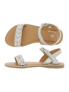 Sandale en cuir fille CFSANDTRES / 18SK35W5D0E000