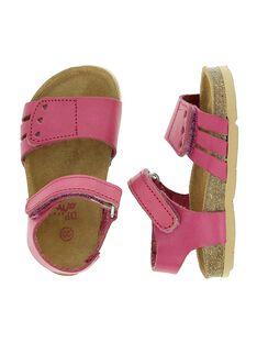 Sandale en cuir bébé fille CBFNUVEL / 18SK37WED0E304