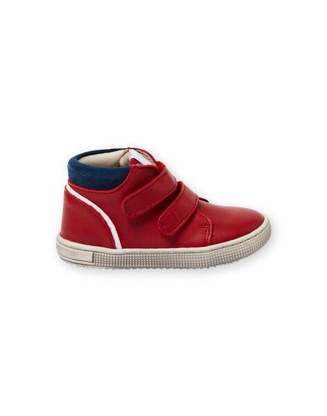Baskets rouges et bleues marine bébé garçon LBGBASRED / 21KK3831D3F050