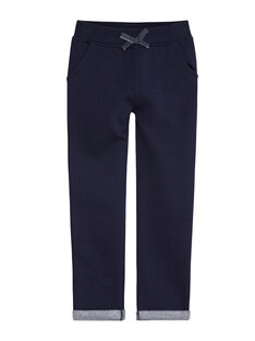 Pantalon marine avec bande en lurex sur les côtés KAJOBAJOG2 / 20W90153D2A070