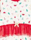 Grenouillère de Noël en velours layette fille GEFIGRENOEL / 19WH13T1GRE001