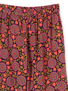 Pantalon fluide imprimé fleuri femme LAMUMPANT / 21S993Z1PANC211