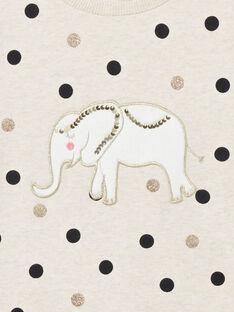 Sweat manches longues, imprimés pois et patch éléphant  LAPOESWEA / 21S901Y1SWE001