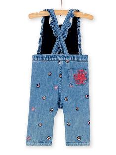 Salopette longue en jean bébé fille KISASAL / 20WG09O1SALP270