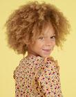Blouse jaune moutarde imprimé fleuri enfant fille MAMIXTEE1 / 21W901J3TMLB106