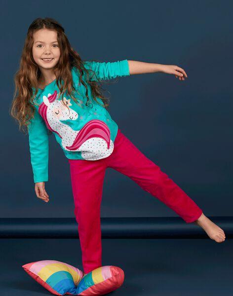 Pyjama Turquoise LEFAPYJLIC / 21SH1153PYJ209