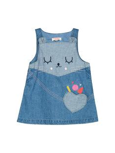 Robe en jean bébé fille FICOROB2 / 19SG0982ROB704