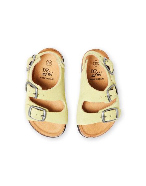 Sandales unies vert pâle bébé garçon LBGNUVERT / 21KK3853D0E602