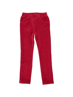Pantalon en velours stretch fille DANAUPANT1 / 18W901G2PAN511