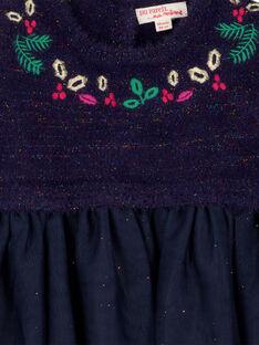 Robe bi matière layette fille GINOROB1 / 19WG09V1ROB070