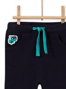 Pantalon vert foncé bébé garçon MUTUPAN2 / 21WG10K2PANC234
