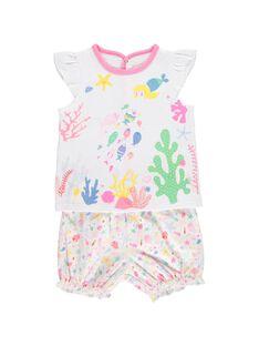 Pyjama en coton bébé fille CEFIPYJMAR / 18SH1362PYJ000