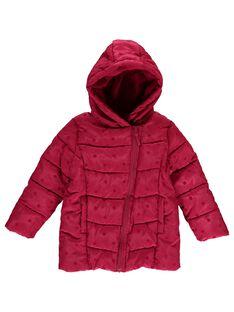 Doudoune rose à capuche fille DALONDOU1 / 18W901E1D3ED304