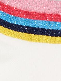 Socquettes écrues à rayures colorées et paillettes enfant fille LYAHACHO / 21SI01X1SOQ001