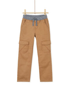 Pantalon cargo camel enfant garçon KOJOPAMAT4 / 20W9023AD2BI810