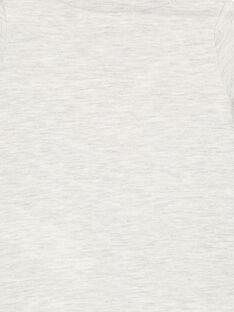 Tee shirt manches longues gris chine clair bébé garçon GUBLATEE1 / 19WG10S1TMLJ906
