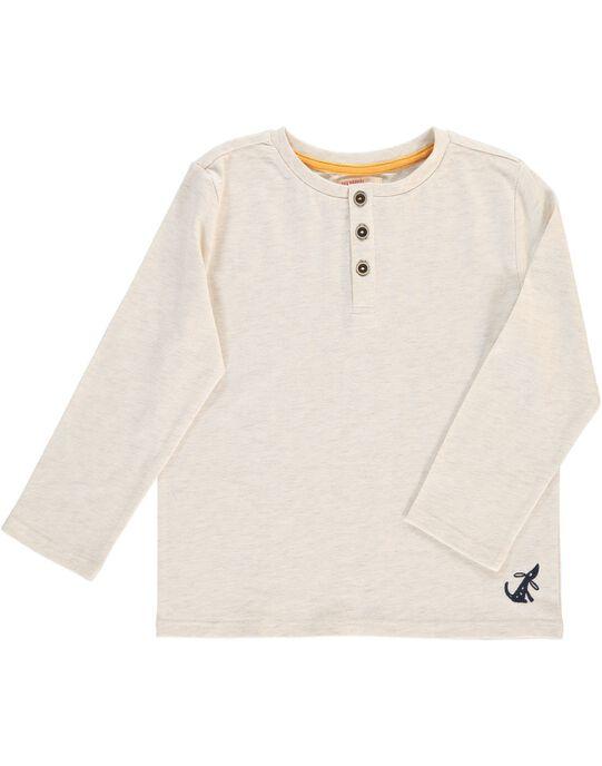 Tee-shirt manches longues col tunisien garçon DOJOTUN7 / 18W9023GD32805