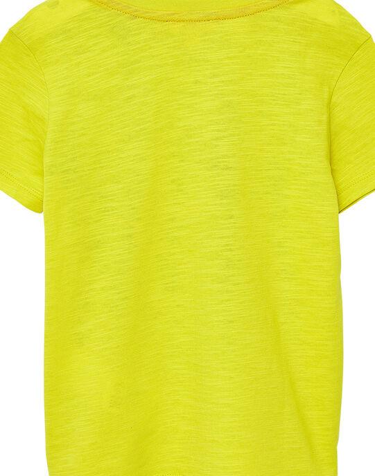 Tee shirt garçon manches courtes jaune gorille JOJOTI5 / 20S90241D31102