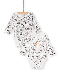 Lot de 2 bodys en jersey imprimé bébé fille KOU2BOD2 / 20WF7721BOD001
