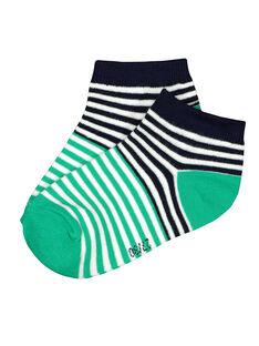 Chaussettes rayées garçon FYOJOCHO6A / 19SI02G1SOQG619