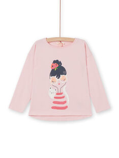 Tee Shirt Manches Longues Rose LAROUTEE1 / 21S901K1TMLD326