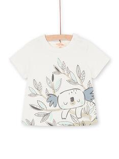 Tee Shirt Manches Courtes Ecru LUPOETEE3EX / 21SG10Y1TMC001