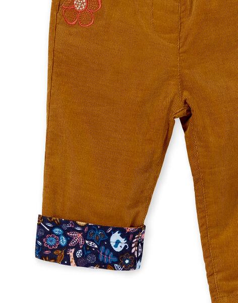 Pantalon réversible en velours bébé fille KISAPAN / 20WG09O1PAN817