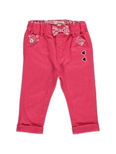 Pantalon en twill bébé fille CIHOPAN / 18SG09E1PANF503