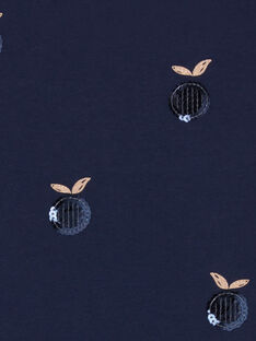 Tee Shirt Manches Longues Bleu nuit LAJOTEE2 / 21S90131D32C205
