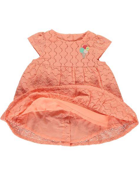 Robe brodée bébé fille CIBUROB3 / 18SG09K1ROB401