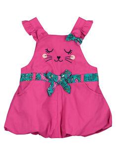 Robe en popeline bébé fille FITUROB2 / 19SG09F2ROB712