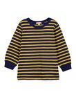 T-shirt Manches longues Marine rayé ocre GOJOTIRIB5 / 19W90243D32B116