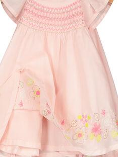 Robe à smocks bébé fille FIPOROB1 / 19SG09C1ROB307