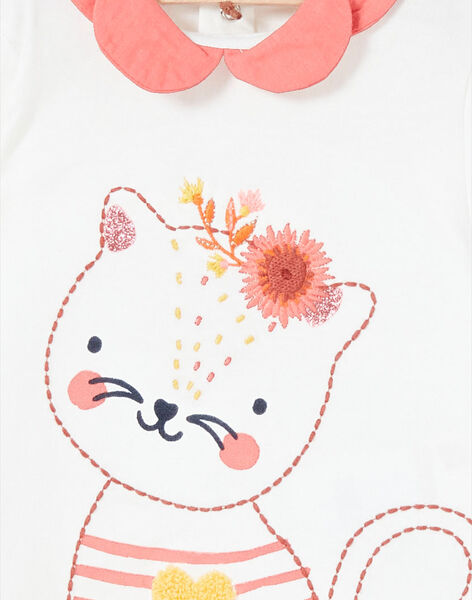 T-shirt manches longues motifs fantaisie bébé fille LINAUBRA / 21SG09L1BRA001