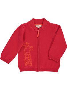 Gilet en coton bébé garçon CUJOGIL3B / 18SG10R6GIL050