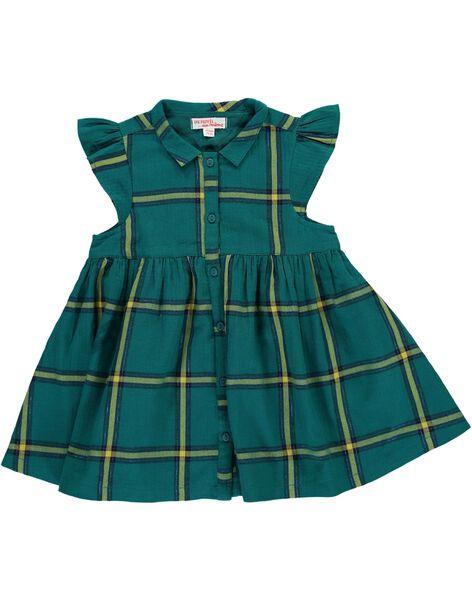 Robe manches courtes à carreaux bébé fille DIVEROB4 / 18WG0972ROB099
