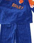 Pyjama bleu en velours enfant garçon GEGOPYJROAR / 19WH12NAPYJC225
