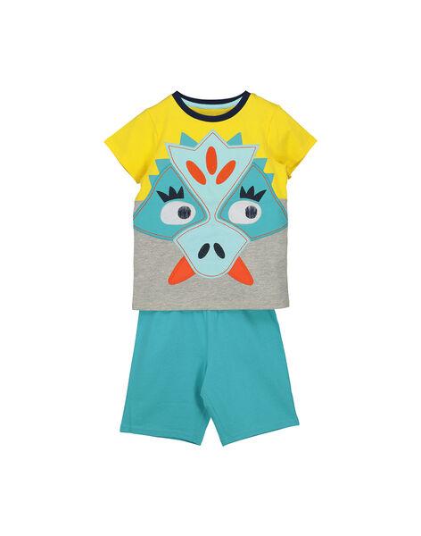 Pyjama short en coton garçon FEGOPYCZOR / 19SH12H2PYJF519