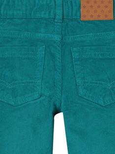 Pantalon En velours Bleu canard Regular GOJOPAVEL5 / 19W902L2D2BG617