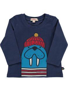 Tee-shirt manches longues bébé garçon DUNAUTEE2 / 18WG10G2TML713